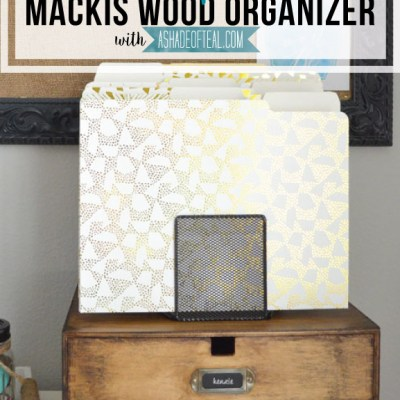 IKEA Update- Makis Wood Organizer Makeover