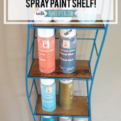 DIY- Old CD/DVD Tower turned Spray Paint Shelf