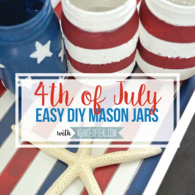 Easy Red White & Blue Mason Jars