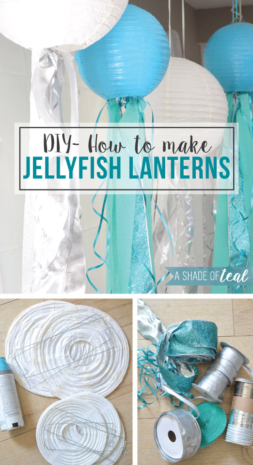 Diy how to make jelly fish lanterns for Fish paper lanterns
