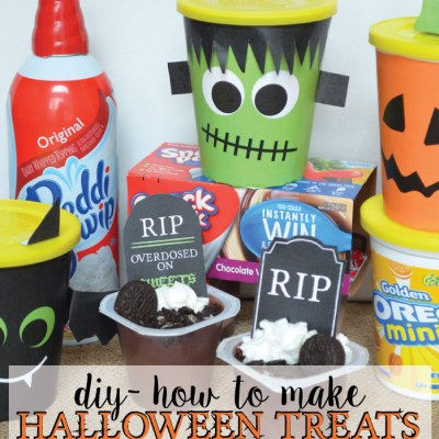 Halloween Treats with Go-Paks!, Snack Pack Pudding, and Reddi-wip!