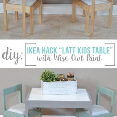 IKEA Hack- Latt Kids Table Makeover