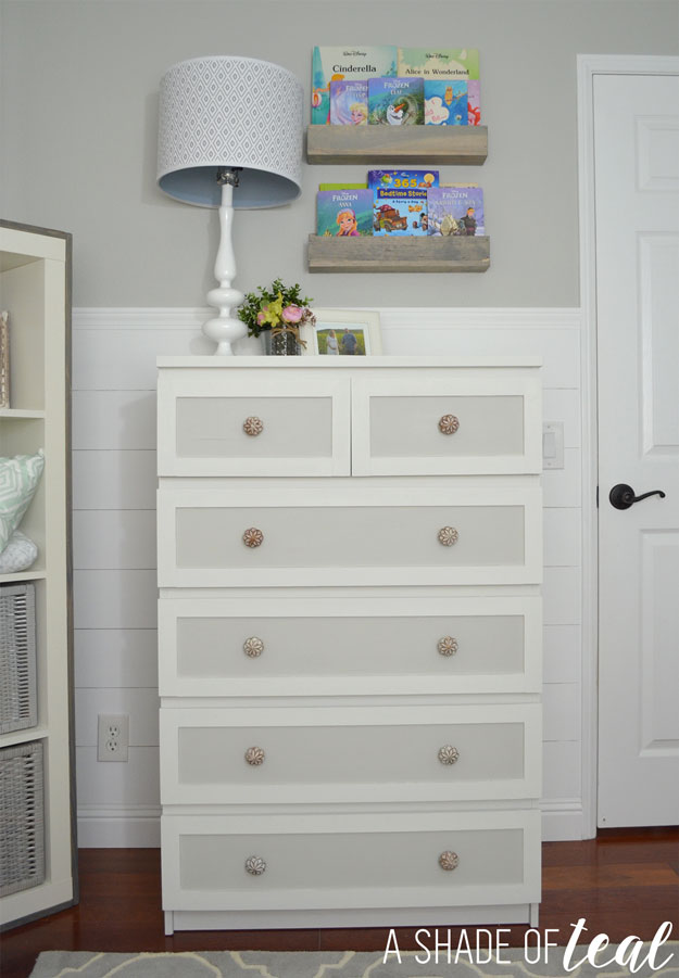ikea malm dresser hack for a rustic glam nursery. Black Bedroom Furniture Sets. Home Design Ideas