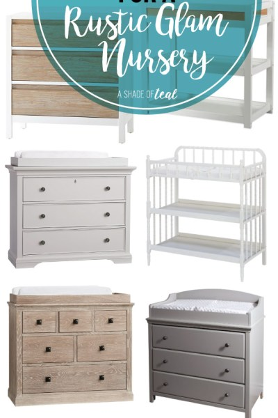 The Best Changing Tables for a Rustic Glam Nursery
