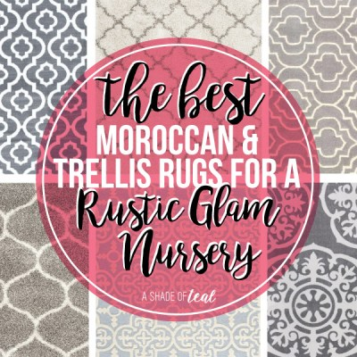 The Best Moroccan & Trellis Rugs for a Rustic Glam Nursery