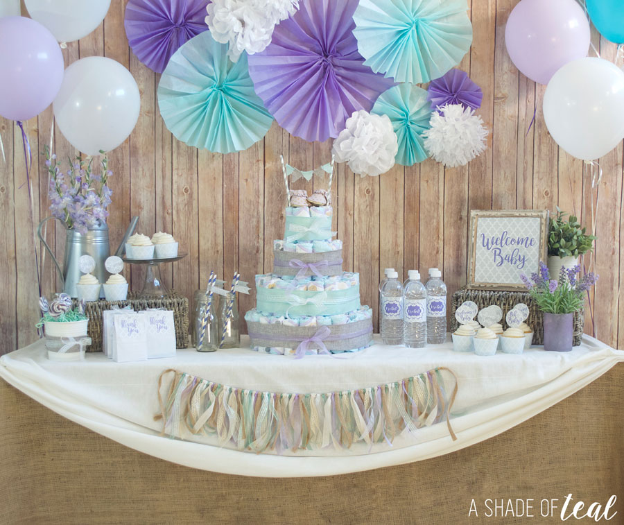 rustic glam baby shower plus make a diaper cake rh ashadeofteal com