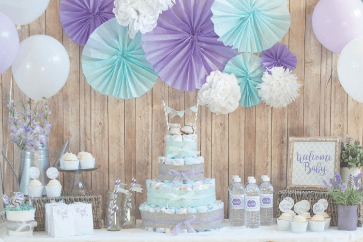 Rustic Glam Baby Shower, Plus Make a Diaper Cake