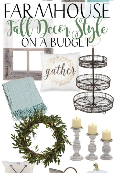 Farmhouse Fall Decor Style on a Budget!