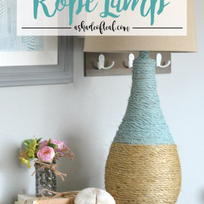 How to make a Rope Lamp, Create & Share Challenge