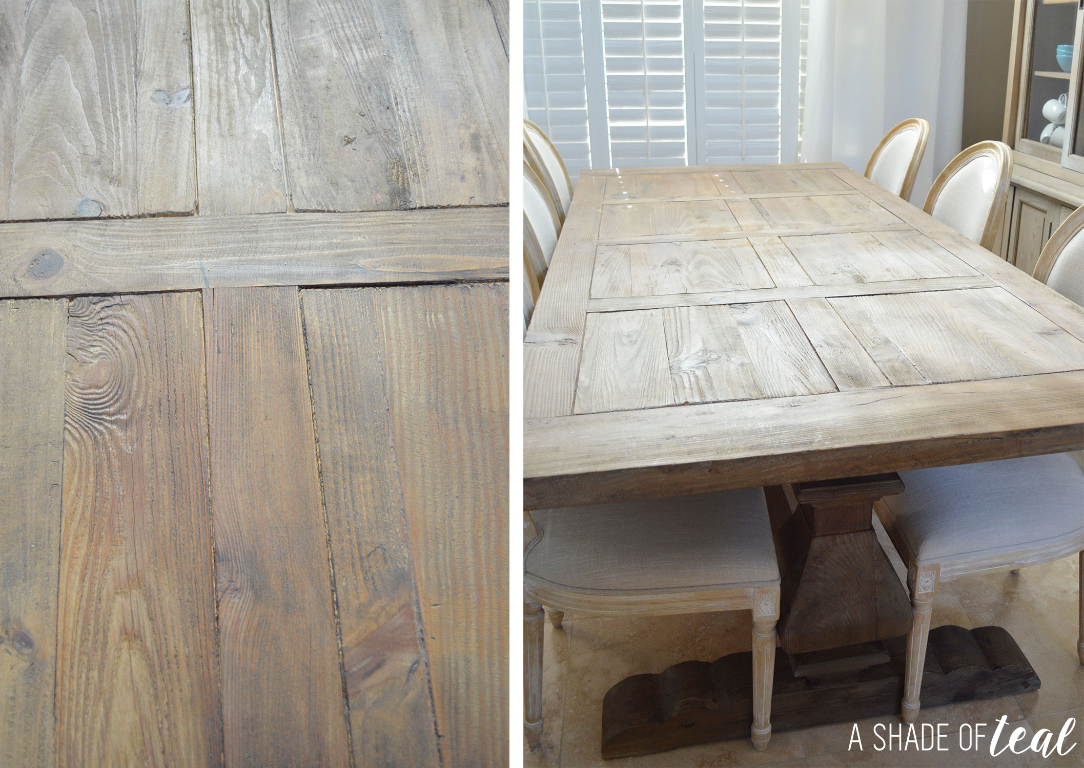 modern rustic dining table update with urban home