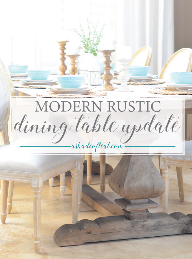 Modern Rustic Dining Rooms modern rustic dining table update with urban home