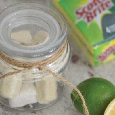Freshen your kitchen with Scotch-Brite® Scrub Sponges & Lemon Lime garbage disposal bombs