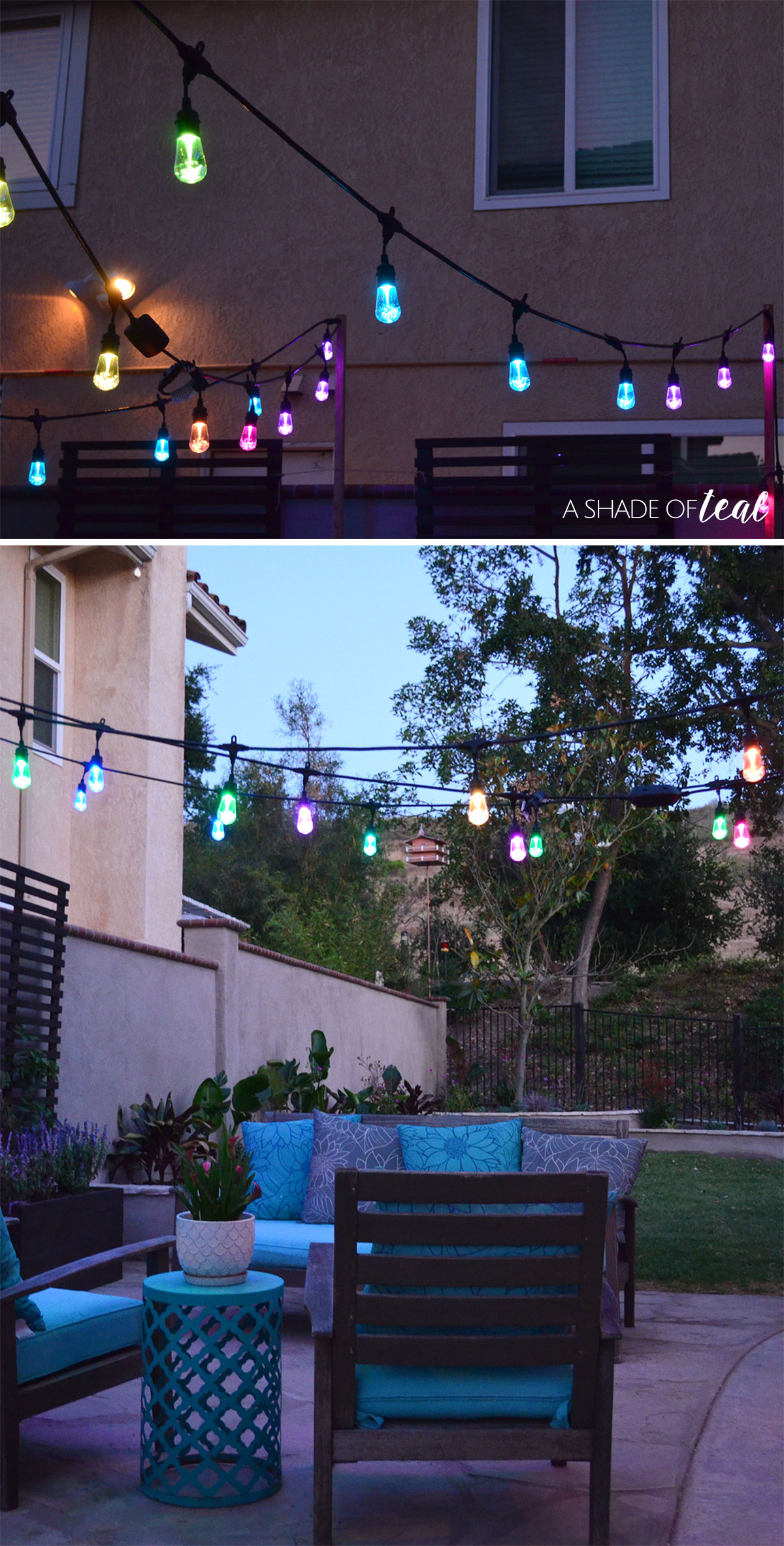 How To Easily Add Patio Lighting Anywhere! Patio Update Enbrighten Cafe %CC%81