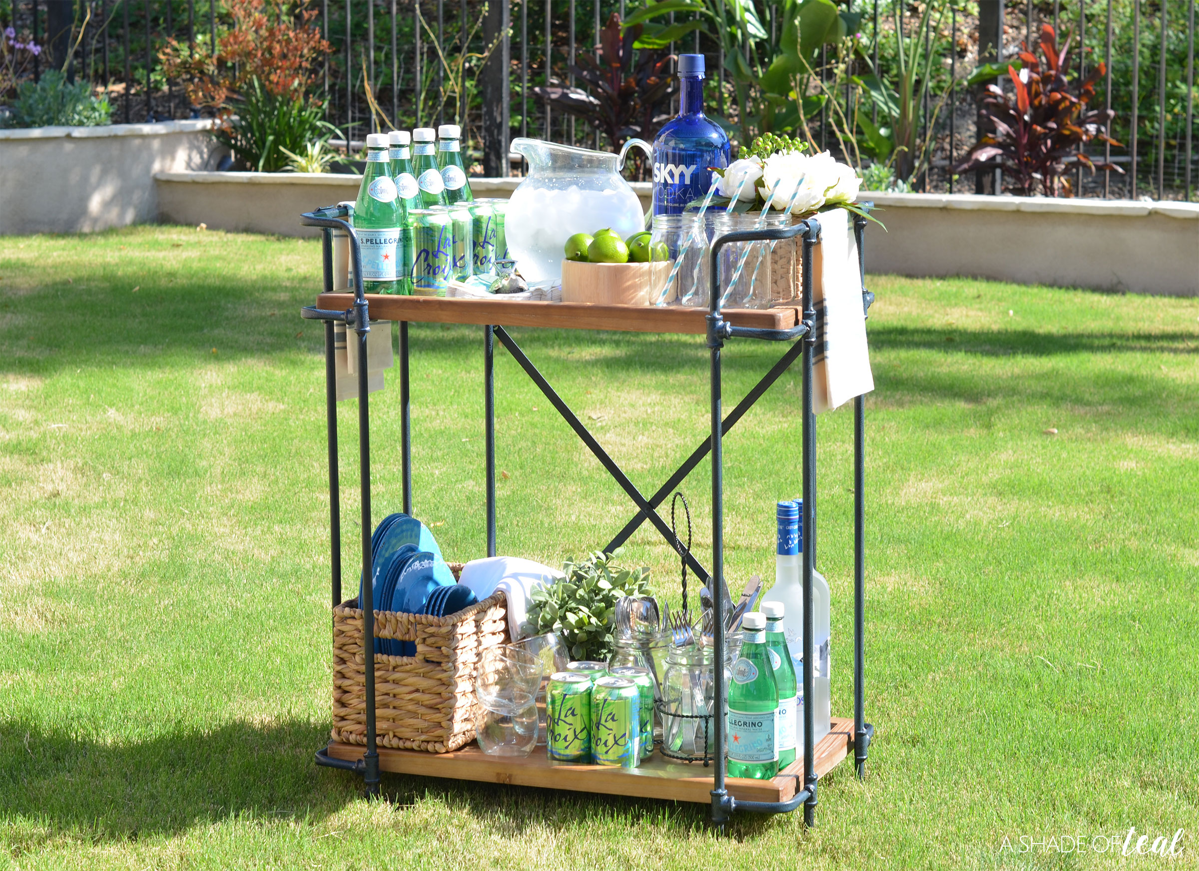 i hope i inspired you to create your own backyard drink station make sure to go check out great selection of bar carts - How To Style A Bar Cart