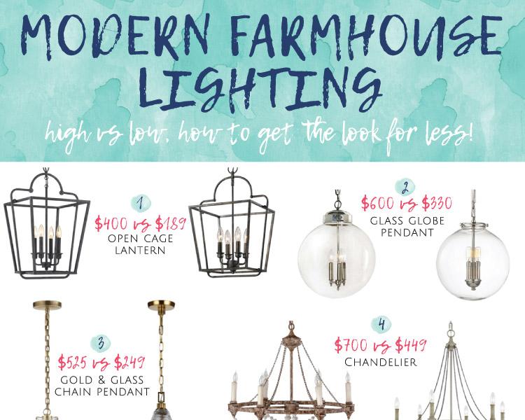 Modern farmhouse lighting for less