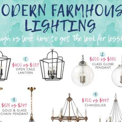Modern Farmhouse Lighting for Less!
