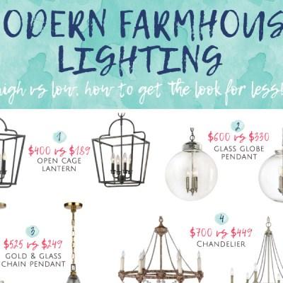 Modern Farmhouse Lighting for Less!
