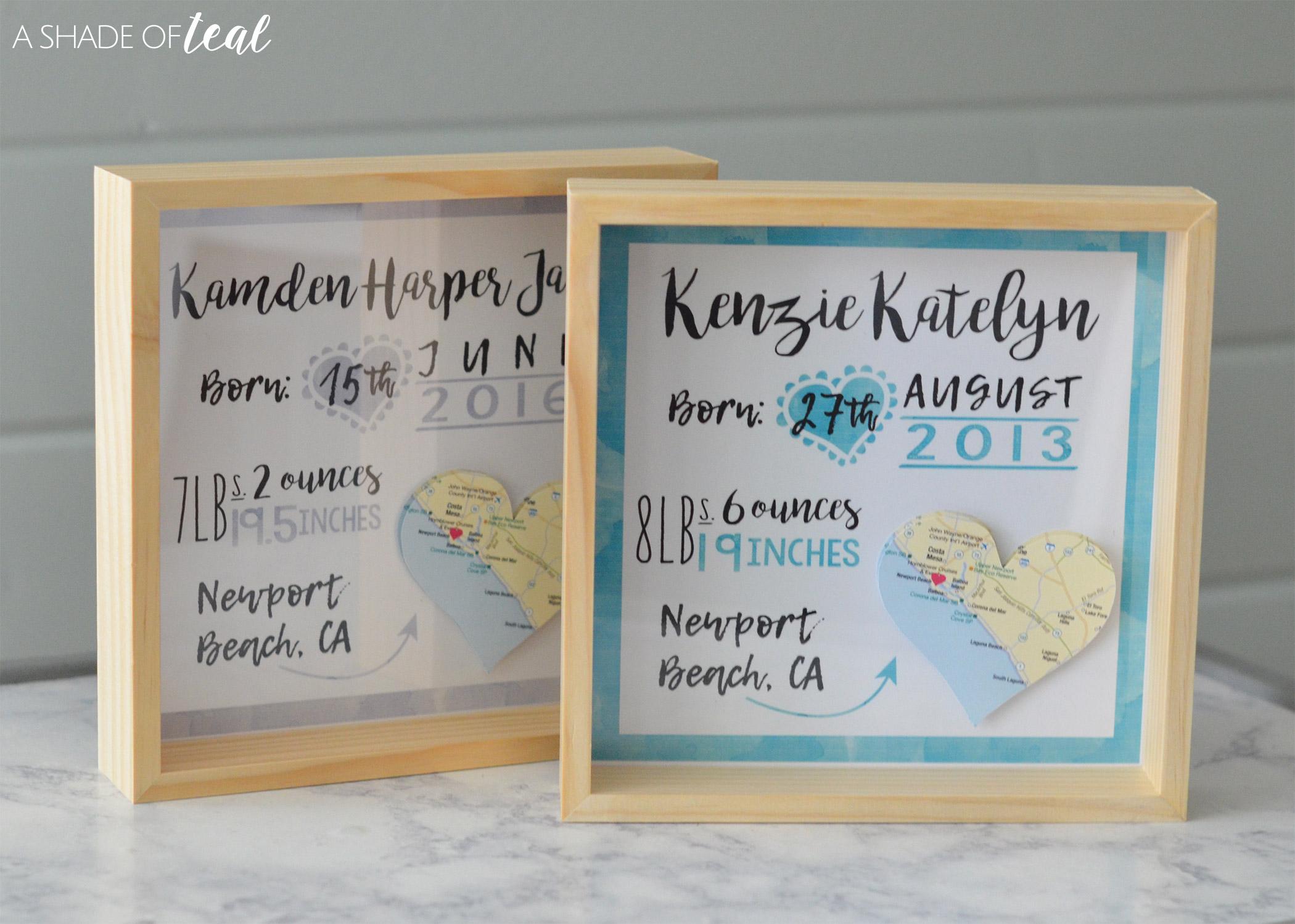 How to make a Custom Birth Announcement Keepsake – How to Make a Birth Announcement
