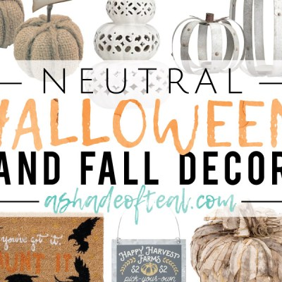 Neutral Halloween Decor!