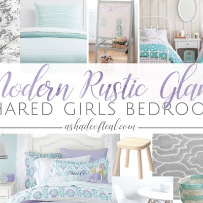 Modern Rustic Glam Shared Girls Bedroom // ORC Week-2: Inspiration