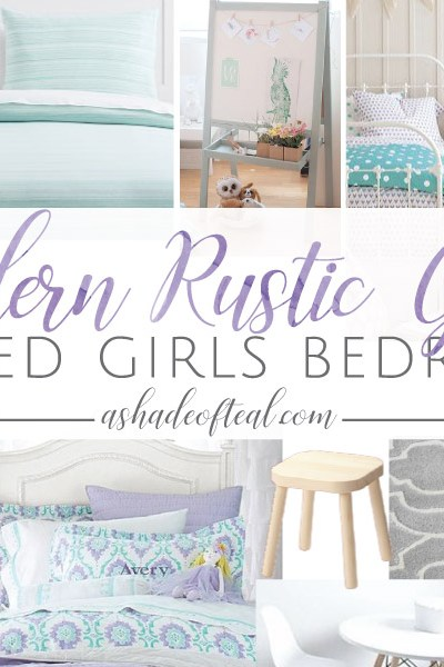 Modern Rustic Glam Shared Girls Bedroom // ORC Week-3