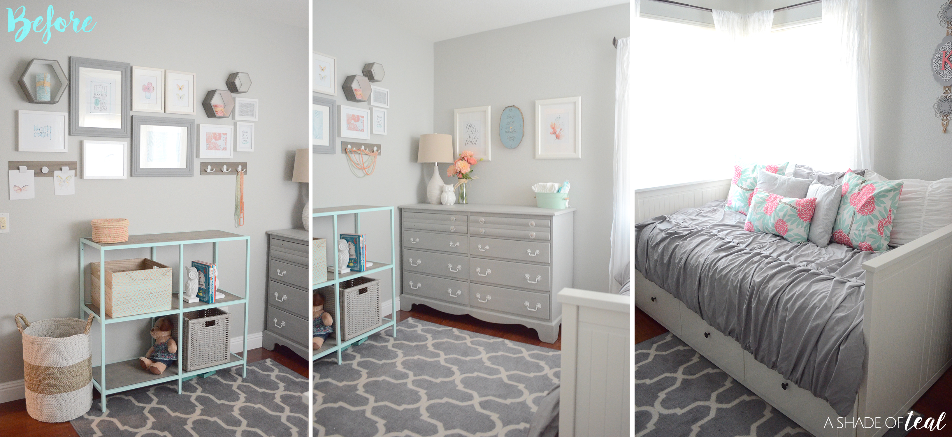 Modern Rustic Glam Shared Girls Bedroom // ORC The Reveal