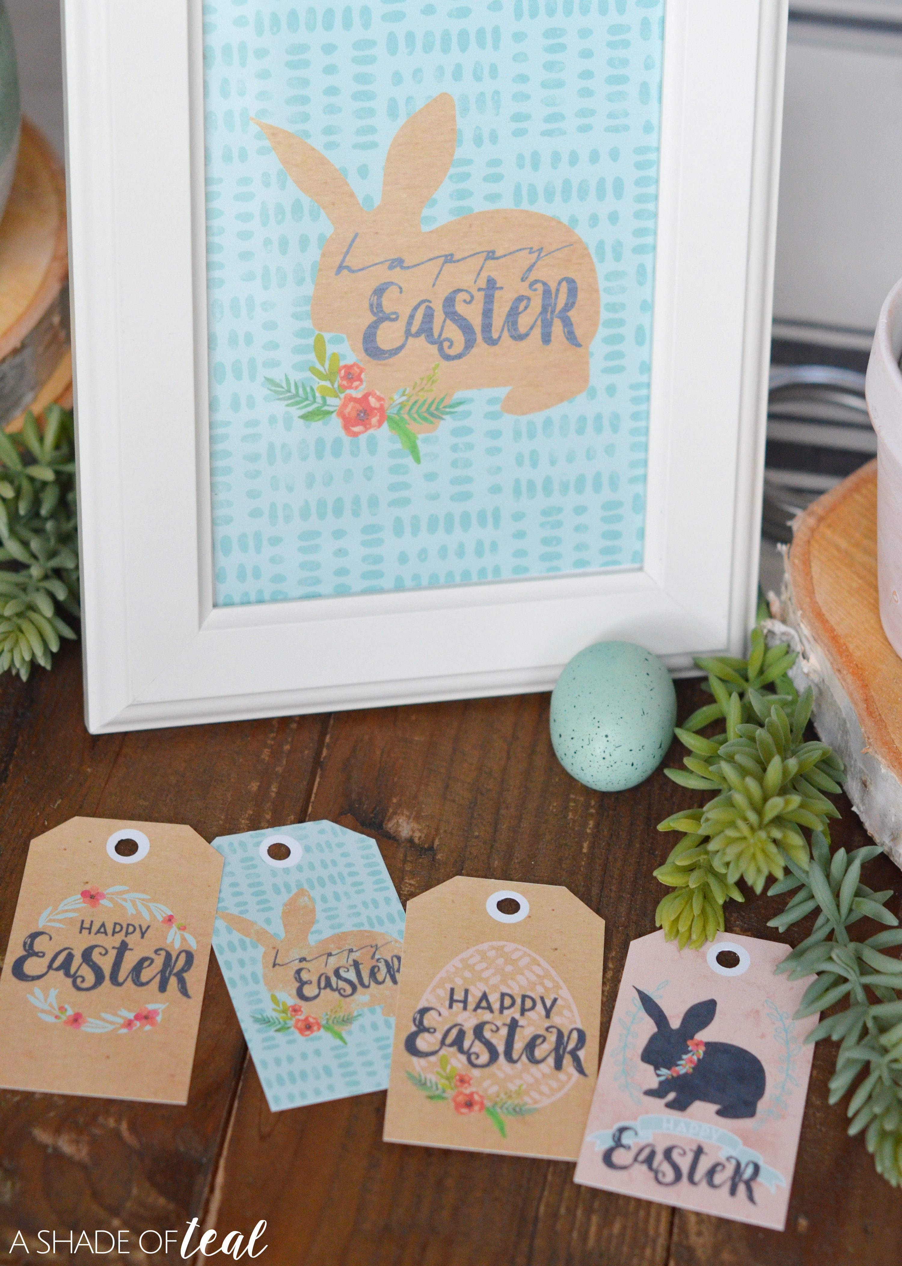 Happy easter with easter printables gift tags ive created several easter related items that you can find in my etsy shop a shade of teal design negle Choice Image