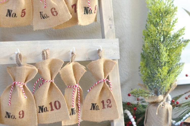 How to Build a Christmas Advent Calendar Ladder