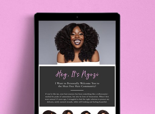 Heat Free Hair Email Marketing