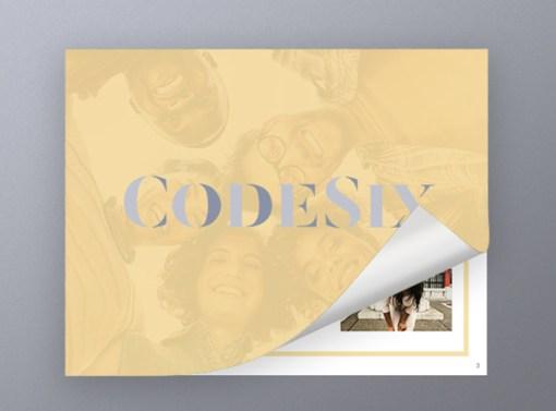 Code Six PR Presentation Design