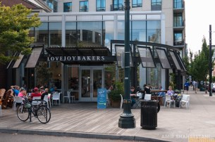 Stopped for a coffee break here at Lovejoy Bakery mid ride while touring the city by bike.