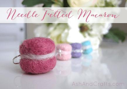 Needle Felted Macaron | AshAndCrafts.com