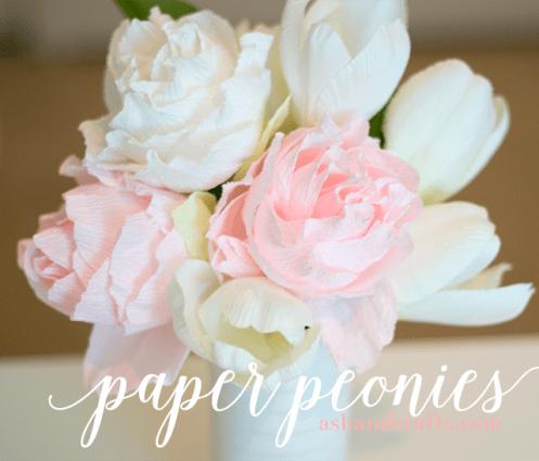 Paper Peony Tutorial | ashandcrafts.com