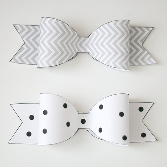 photograph regarding Bow Template Printable titled Freebie Friday: Printable Paper Bows - Ash and Crafts