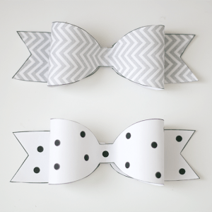 Printable Paper Bow Template | ashandcrafts.com