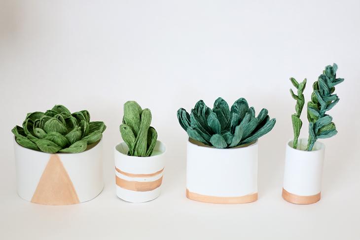 Crepe Paper Succulent Tutorial | ashandcrafts.com