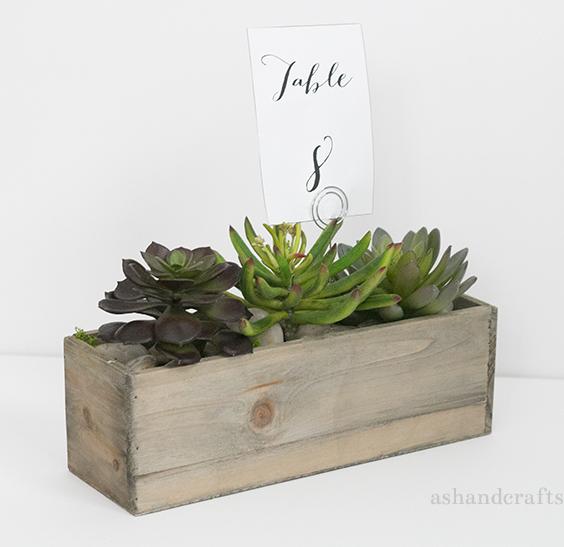 Succulent Planter Centerpiece Tutorial   ashandcrafts.com