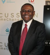 Dr. Bennet at  the  Concussion red carpet film premiere