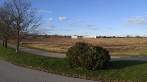 Huge fields, all dried up. The new Einstein Hospital complex on the other side of Germantown Pike