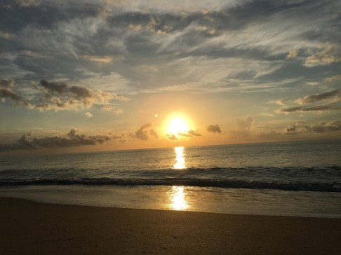 Sunset at Palm Beach on Ocean drive