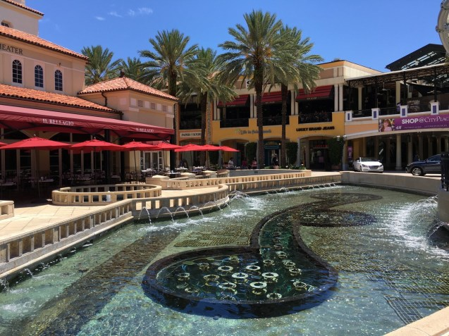 The City Place - a very colorful, sprighty place with lots of good restaurants and shopping and impeccable store fronts.