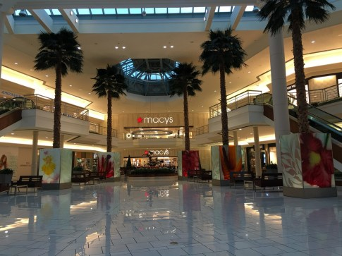 Inside of the Gardens mall.