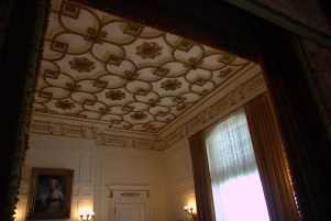 The ceiling of the breakfast room.