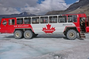 The bus to go up the glacier. Each tire costs $4000!