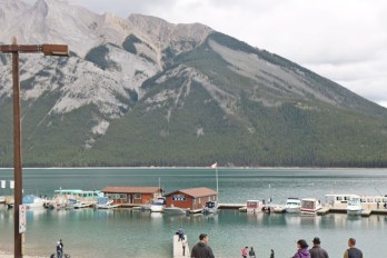 On the banks of Lake Minnewanka