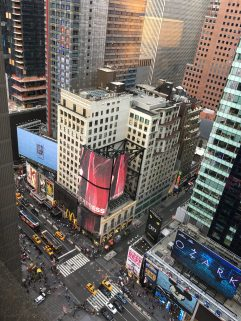 View of Time Square from above