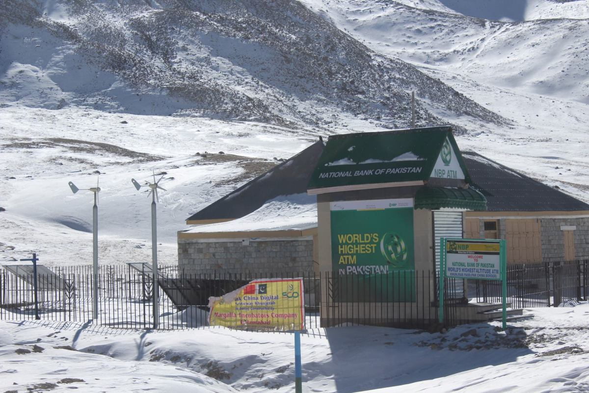 World's Highest ATM at Khunjerab Pass, Pakistan