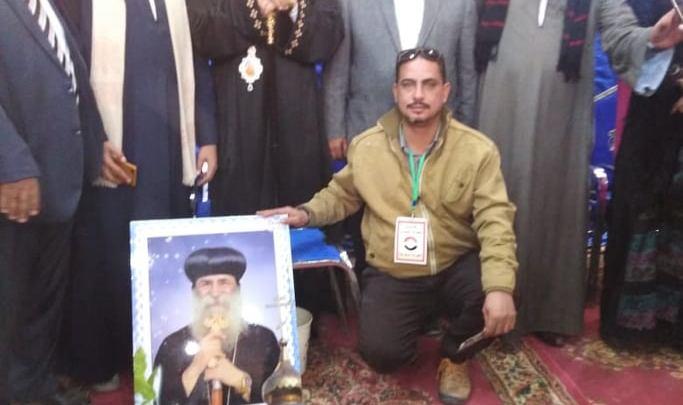 وفد من حزب الحريه المصري بقوص يشاركون الأخوة المسيحين بعيد الميلاد المجيد