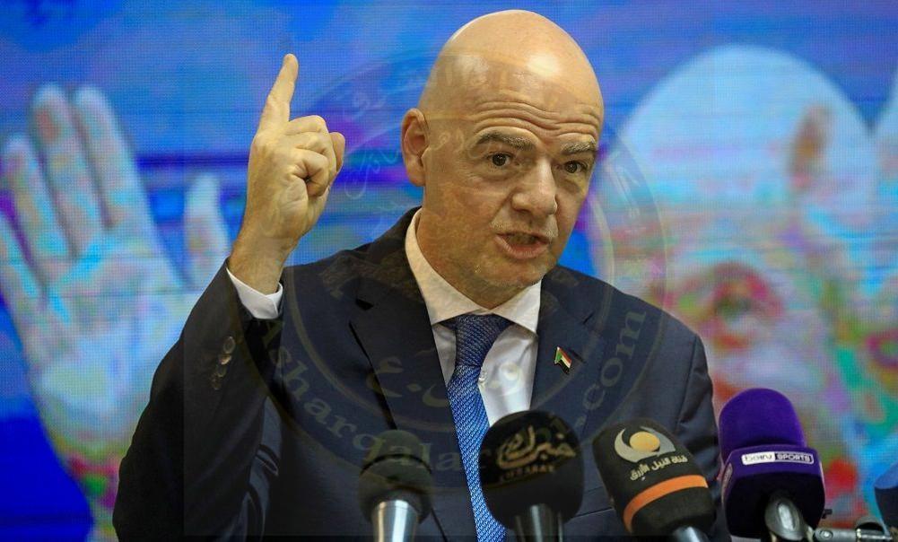 جاني إنفانتينو رئيس الاتحاد الدولي معارضة الفيفا التامة لانطلاق دوري السوبر الأوروبي.