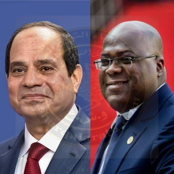 السيسي يلتقي  مساء اليوم اتصالاً هاتفياً من الرئيس فيليكس تشيسيكيدي، رئيس جمهورية الكونغو الديمقراطية